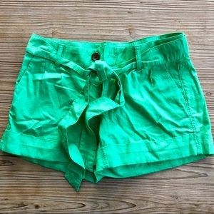 Green shorts Banana Republic